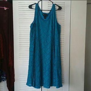 Teal Textured Dress